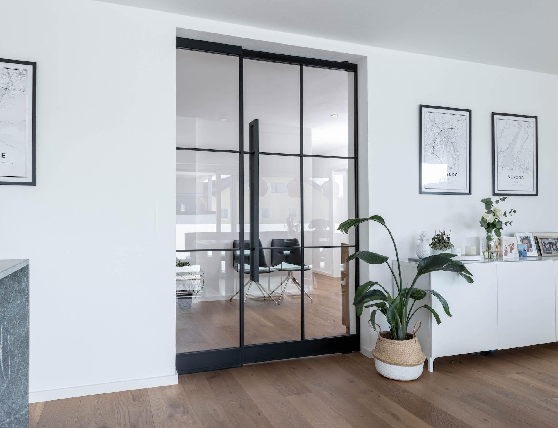 Glastüre mit großem Einsatzgebiet